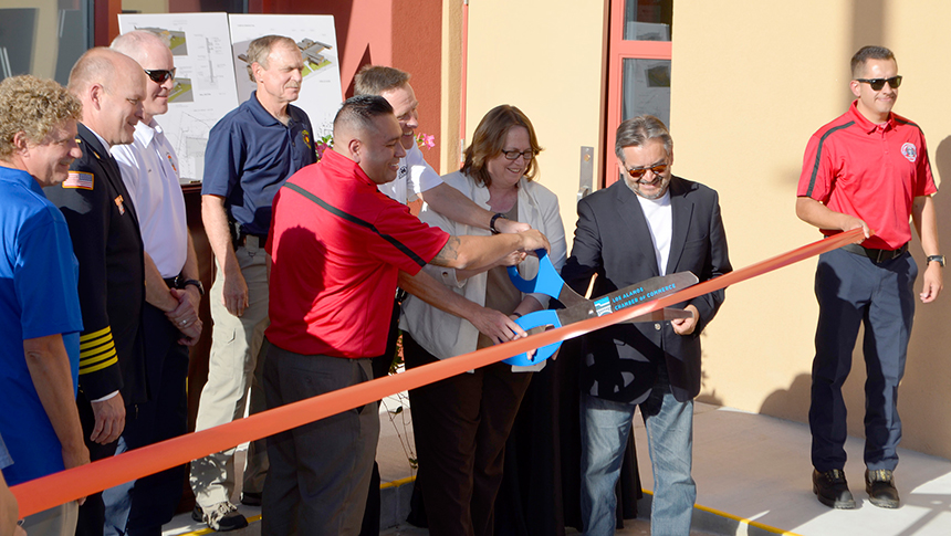 Featured Image - Open House celebrates renovation of Fire-EMS Training facility
