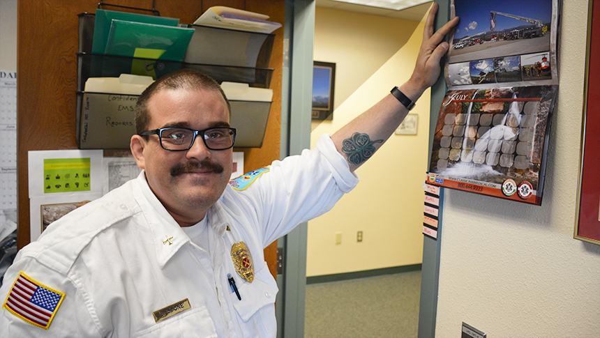 Featured Image - Fire Chief EMS Ben Stone is a teacher and a student at UNM-LA