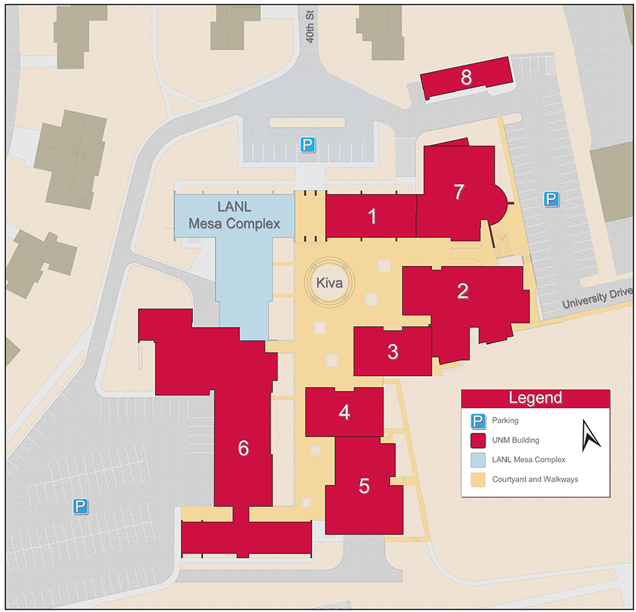 Campus Map :: UNM Los Alamos | The University of New Mexico