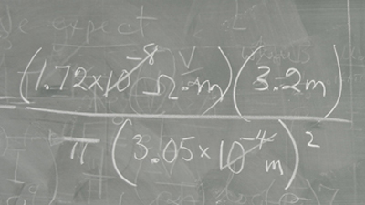 Math Equation on Blackboard